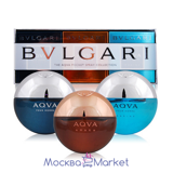 BVLGARI Aqva Pocket Spray Collection - Набор Булгари 3*15 мл